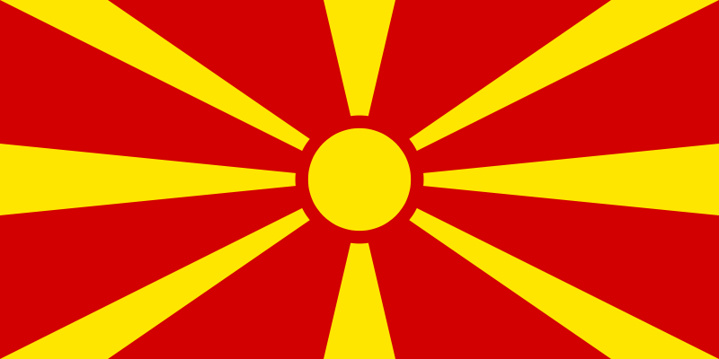 Former Yugoslav Republic of Macedonia (FYROM) flag