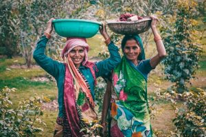 Two Indian women - India cost of living